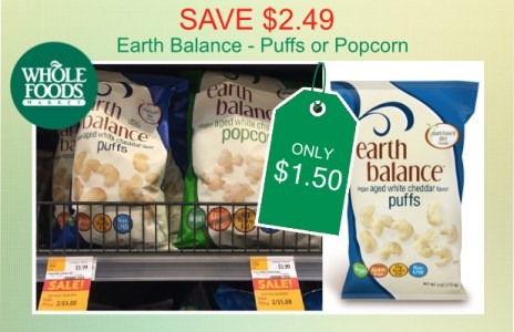 Earth Balance Puffs or Popcorn Coupon Deal
