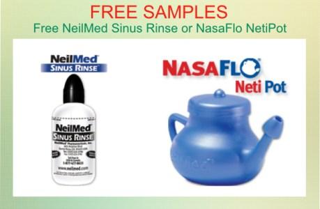 Free NeilMed Sinus Rinse or NasaFlo NetiPot