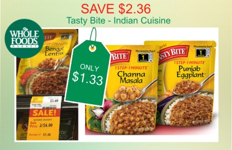 Tasty Bite Indian Cuisine coupon deal