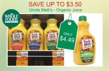 Uncle Matt's Organic Juice Coupon Deal