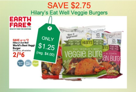 Hilary's Eat Well Burgers Coupon Deal