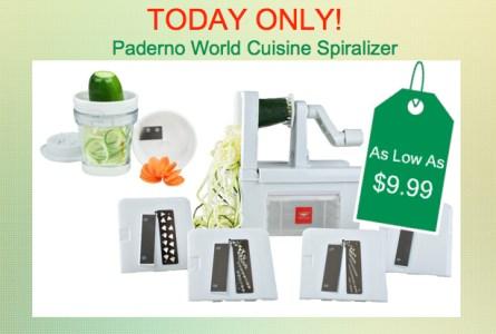 Paderno World Cuisine Spiralizer
