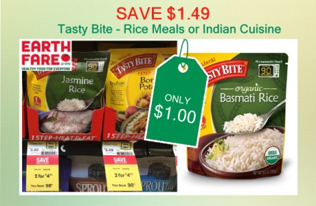 Tasty Bite Rice Meals coupon deal