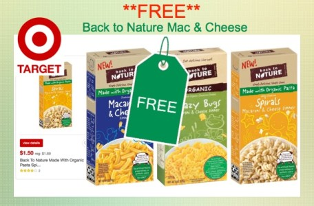 Back To Nature Mac and Cheese Coupon Deal Target