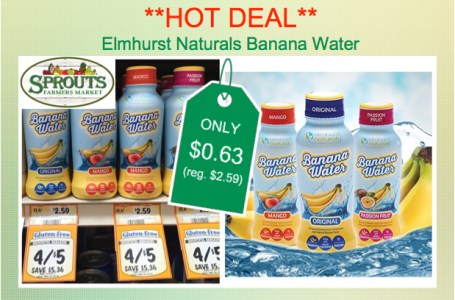 Elmhurst Naturals Banana Water coupon deal
