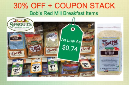 Bob's Red Mill Breakfast Items Coupon Deal