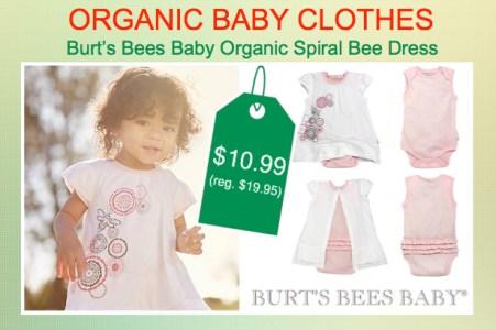 Burt's Bees Organic Spiral Bee Dress & Bodysuit Set