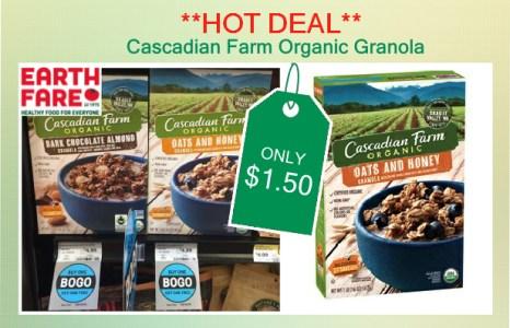 Cascadian Farm Organic Granola coupon deal