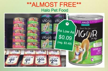 Halo Pet Food Coupon Deal