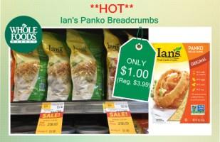 Ian's Panko Breadcrumbs coupon deal 1