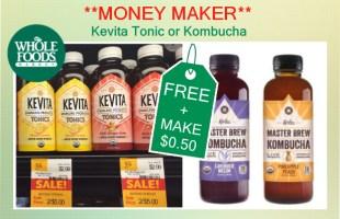 Kevita Tonic or Kombucha coupon deal