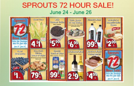 SPROUTS 72 HOUR SALE coupon deal