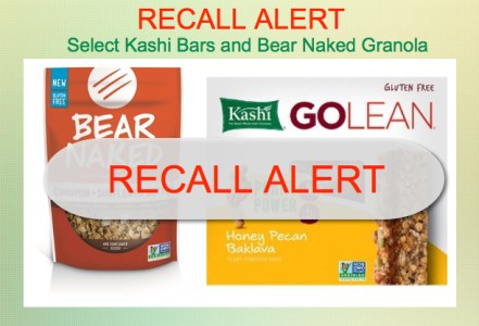 RECALL ALERT: Select Kashi Snack Bars and Bear Naked Granola