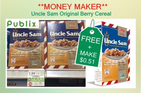 Uncle Sam Original Berry Cereal coupon deal
