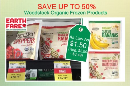 Woodstock Organic Frozen Products coupon deal