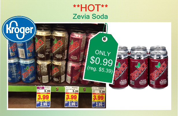 HOT** Zevia Soda Coupon Deal - ONLY $0 99 at Kroger!
