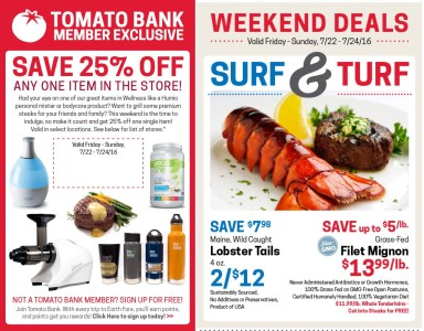 Earth Fare Weekend Deals - 25% off One Item Plus Other Deals!