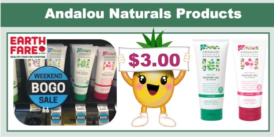 Andalou Naturals Lotion or Shower Gel Coupon Deal