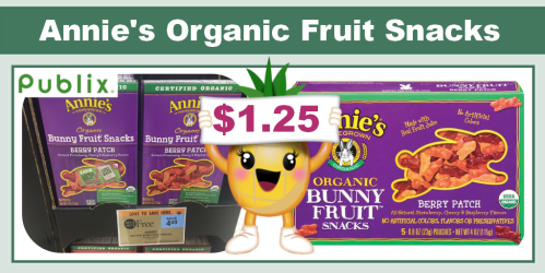 Annie's Organic Fruit Snacks Coupon Deal