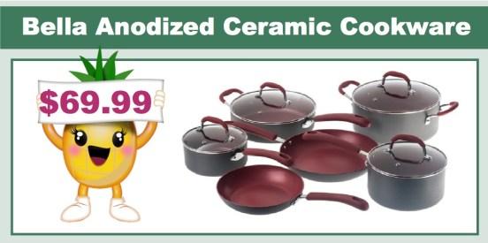 Bella 10-Piece Hard Anodized Ceramic Cookware