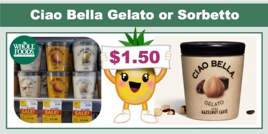 Ciao Bella Gelato or Sorbetto Coupon Deal