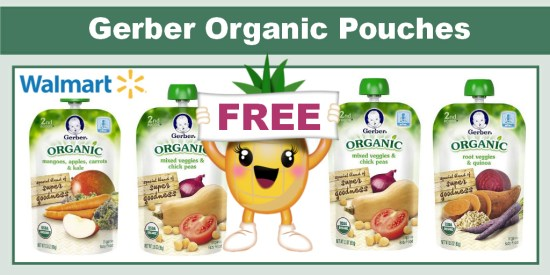 Gerber Organic Pouches coupon deal