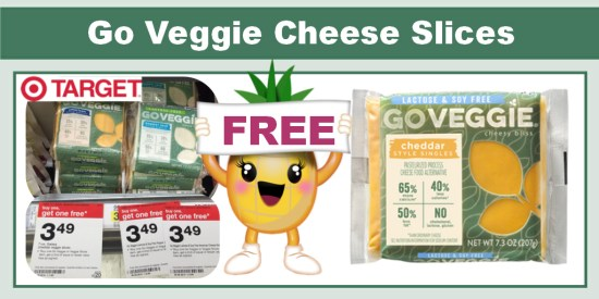 Go Veggie Cheese Slices coupon deal