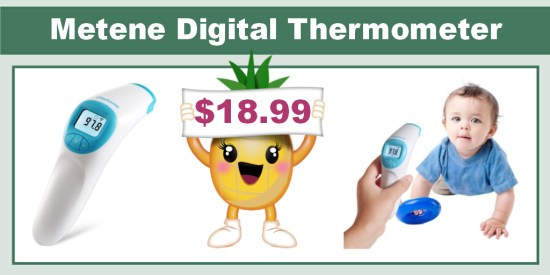 Metene Digital Forehead Thermometer coupon deal