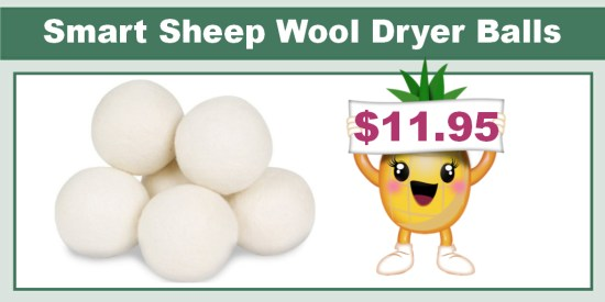 Smart Sheep Wool Dryer Balls 6-Pack deal