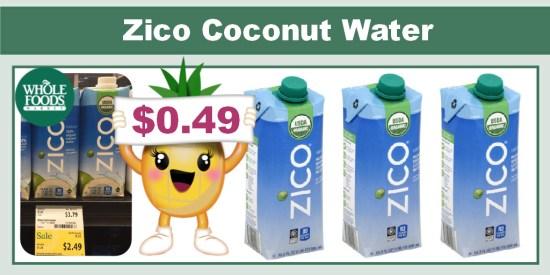 Zico Organic Coconut Water Coupon Deal