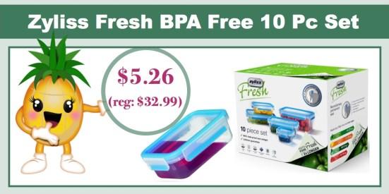 Zyliss Fresh BPA Free 10 Piece Storage Containers