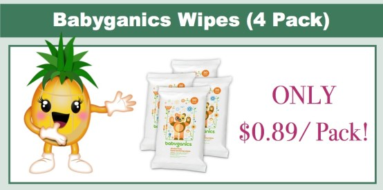 babyganics wipes 4 pack