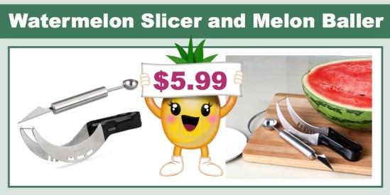 watermelon slicer and melon baller