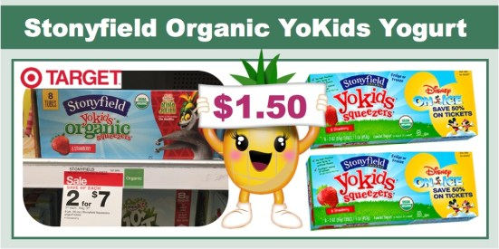 Stonyfield YoKids Organic Yogurt Coupon Deal