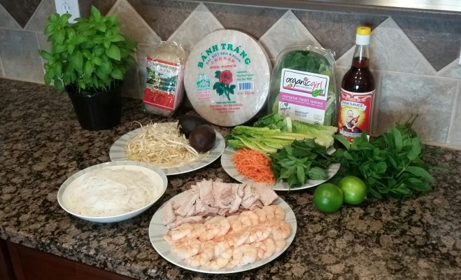 Shrimp and Pork Basil Roll Recipe Ingredients