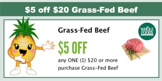 5 off 20 grassfed beef