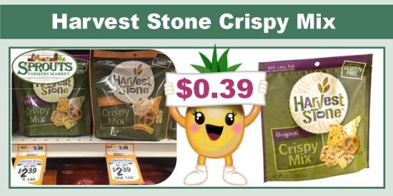 Harvest Stone Crispy Mix coupon deal