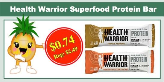 health warrior superfood protein bar