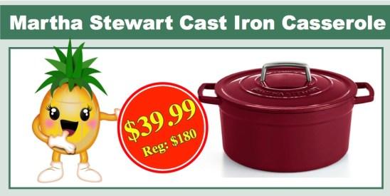 Martha Stewart Collector's Enameled Cast Iron Casserole