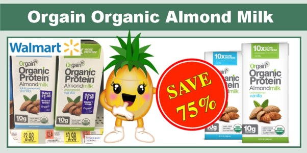 Orgain Organic Protein Almond Milk Coupon Deal
