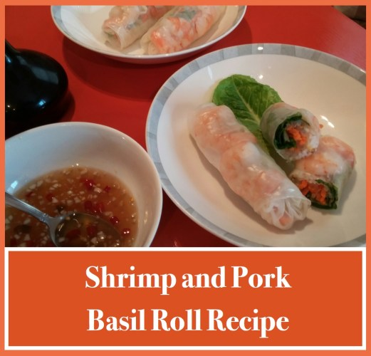 shrimp and pork basil roll recipe