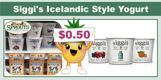 Siggi's Dairy Yogurt Yogurt Coupon Deal