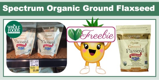 spectrum organic ground flaxseed coupon deal