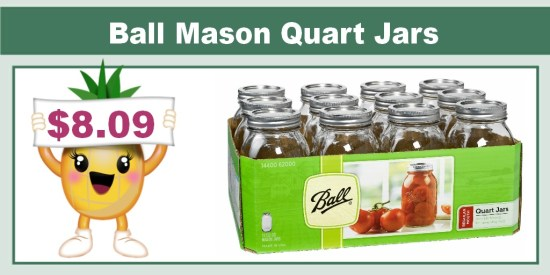 Ball Mason Quart Jars with Lids and Bands