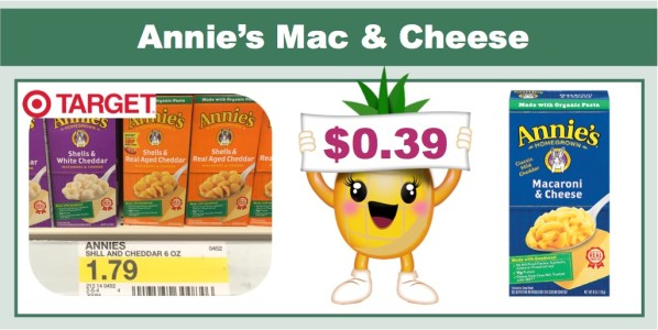 annie's mac and cheese coupon deal
