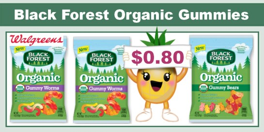 Black Forest Organic Gummy Bears or Worms Coupon Deal
