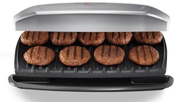 George Foreman 144-sq in 9 Serving, Classic-Plate Grill & Panini Press