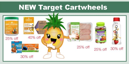 NEW Target Cartwheels Including 25% Off Chicken!