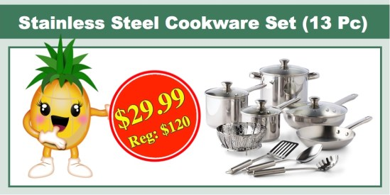 Tools of the Trade Stainless Steel Cookware Set (13 PC)