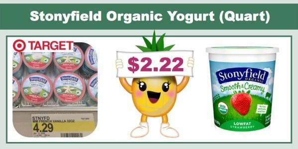 Stonyfield Organic Yogurt (Quart)